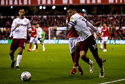 Jack Grealish of Aston Villa takes on Tendayi Darikwa of Nottingham Forest - Mandatory by-line: Robbie Stephenson/JMP - 13/03/2019 - FOOTBALL - The City Ground - Nottingham, England - Nottingham Forest v Aston Villa - Sky Bet Championship