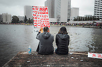 Women's March on January 21, 2017, in Oakland, CA. Copyright 2017 Reid McNally.