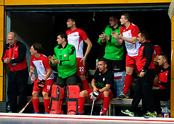LEIZPIG - WC HOCKEY INDOOR 2015<br /> NED v POL (Pool B)<br /> Foto:Polish player bench<br /> FFU PRESS AGENCY COPYRIGHT FRANK UIJLENBROEK