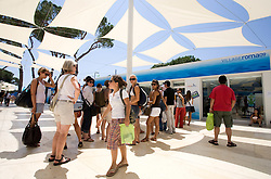 Visitors of Village Roma09 waiting in line for souveniers  at 13th FINA World Championships Rome 2009, on July 25 2009, at Foro Italico, Rome, Italy. (Photo by Vid Ponikvar / Sportida)