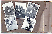 open family photo album page summer 1940s