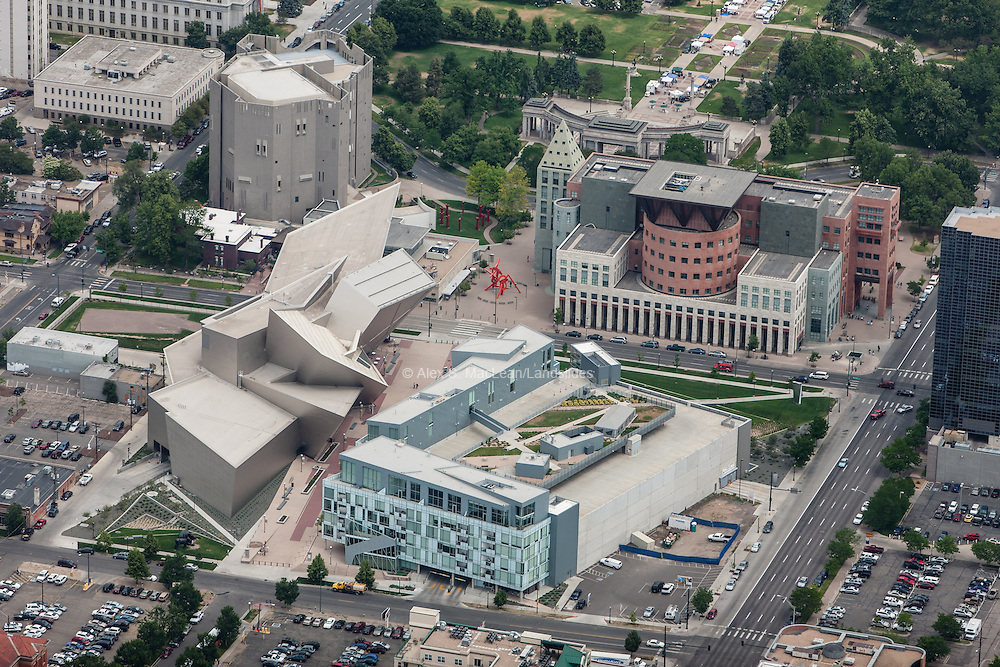 Denver Museum of Art, North Building, Hamilton Building, Museum Residences, and the Denver Public Library as part of the Denver Civic Center Cultural Complex