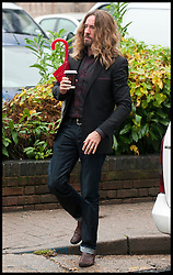 Comedian Justin Lee Collins arriving at St Albans Crown Court, he faces  charge's of harassment on his former girlfriend Anna Larke. Monday October 1, 2012. Photo by i-Images