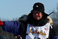 3/4/2007:  Willow, Alaska -  Veteran Ben Stamm of Argyle, WI at the start of the 35th Iditarod Sled Dog Race
