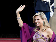 Amsterdam , 28-04-2017 <br /> <br /> King Willem-Alexander celebrates his 50th birthday with Queen Maxima and 150 guests at the Royal palace of Amsterdam.<br /> <br /> <br /> <br /> COPYRIGHT: ROYALPORTRAITS EUROPE/ BERNARD RUEBSAMEN