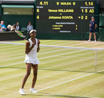VENUS WILLIAMS (USA) jubelt nach ihrem Sieg, Jubel,Freude,Emotion,<br /> <br /> Tennis - Wimbledon 2017 - Grand Slam ITF / ATP / WTA -  AELTC - London -  - Great Britain  - 13 July 2017.
