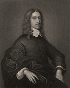 John Selden (1584-1654) English jurist, historian and antiquary, born at Salvington near Worthing, Sussex.  Engraving after the portrait by Mytens.