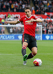 Matteo Darmian of Manchester United in action - Mandatory byline: Rogan Thomson/JMP - 07966 386802 - 30/08/2015 - FOOTBALL - Liberty Stadium - Swansea, Wales - Swansea City v Manchester United - Barclays Premier League.