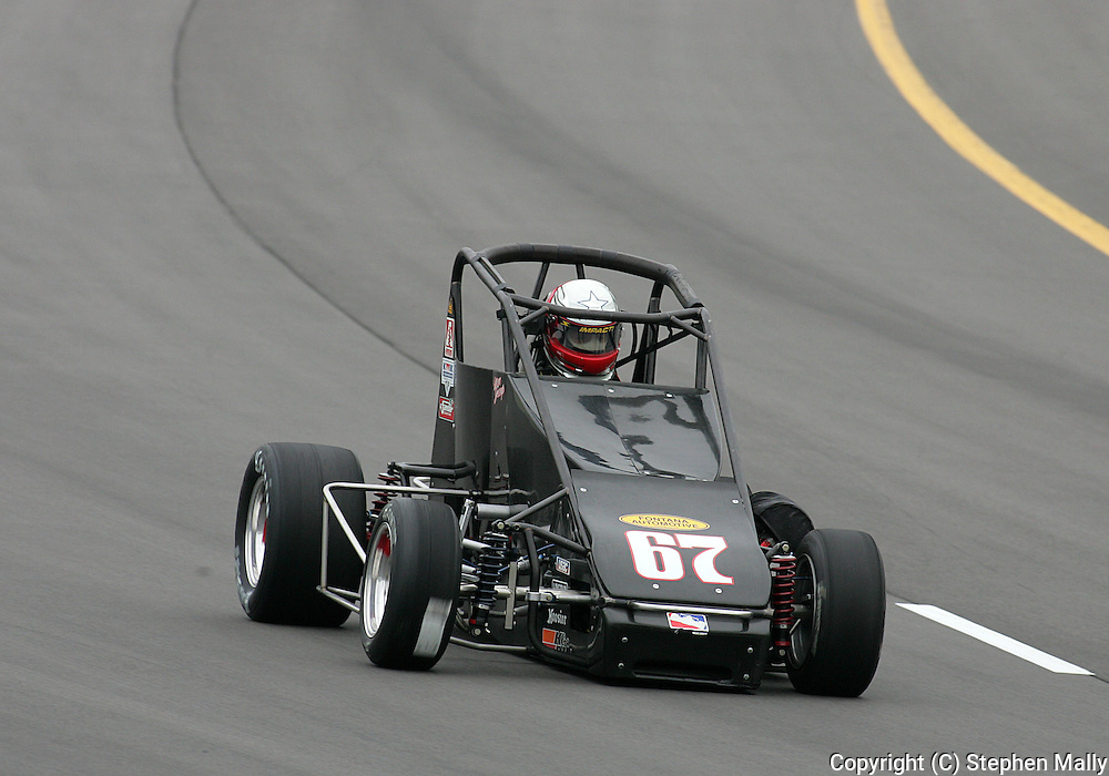 05 MAY 2007: Marc Jessup (67) of Keith Kunz Motorsports practices in his midget car before the Casey's General Stores USAC Triple Crown at the Iowa Speedway in Newton, Iowa on May 5, 2007.