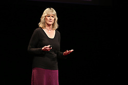 Karen Povey speaking at TEDx Tacoma on Saturday, March 21, 2015. (Photo: John Froschauer/PLU)