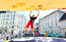 31.07.2015, Mariahilfer Straße, Wien, AUT, ISFC, Free Solo Masters MAHÜ, Vorqualifikation, im Bild Rustam Gelmanov // during the prequalification of the ISFC Free Solo Masters MAHÜ at the Mariahilfer Straße in Vienna, Austria on 2015/07/31. EXPA Pictures © 2015, PhotoCredit: EXPA/ Sebastian Pucher