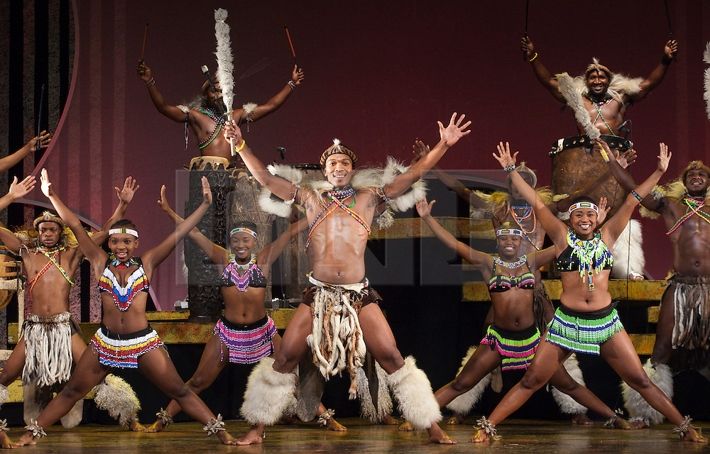 "© Licensed to London News Pictures. 01/02/2012. London, England. The South African Musical UMOJA opens at the Peacock Theatre, London. ""Umoja"" means ""togetherness"" in Zulu. Photo credit: Bettina Strenske/LNP"