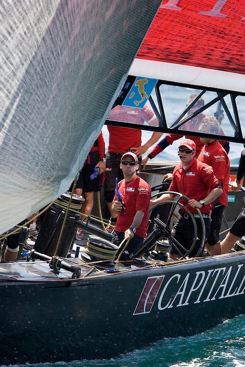 Valencia, SPAIN, Louis Vuitton Cup 2007, Round Robin 2, Flight 8.Mascalzone Latino-Capitalia Team (ITA)