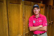 DUBLIN, OHIO - JUNE 01:  Jim Furyk poses for a portrait in the locker room during practice for the Memorial Tournament presented by Nationwide at Muirfield Village Golf Club on June 1, 2016 in Dublin, Ohio. (Photo by Chris Condon/PGA TOUR)