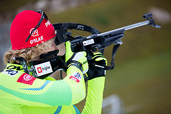 Klamen Bauer during practice session of Slovenian biathlon team before new winter season 2012/13 on November 19, 2012 in Rudno polje, Pokljuka, Slovenia. (Photo By Vid Ponikvar / Sportida)