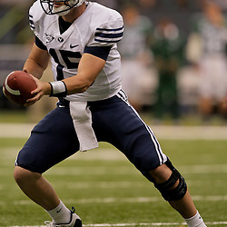 Sep 12, 2009; New Orleans, LA, USA;  BYU Cougars quarterback Max Hall (15)against the Tulane Green Wave at the Louisiana Superdome.  BYU defeated Tulane 54-3. Mandatory Credit: Derick E. Hingle-US PRESSWIRE