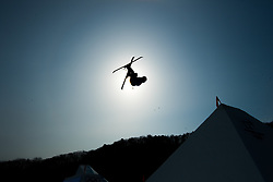 February 18, 2018 - Pyeongchang, South Korea - JONAS HUNZIKER of Switzerland competes in the Mens Ski Slopestyle competition Sunday, February 18, 2018 at Phoenix Snow Park at the Pyeongchang Winter Olympic Games.  Photo by Mark Reis, ZUMA Press/The Gazette (Credit Image: © Mark Reis via ZUMA Wire)