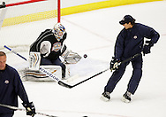 October 1, 2012: The Oklahoma City Barons hold day two of their 2012-13 American Hockey League training camp at the Cox Convention Center in Oklahoma City.