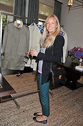 MARTHA WARD at an exclusive preview of fashion label Fay latest collections held at 21 Collingham Road, London SW5 on 12th June 2012.