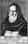 Roger Bacon (c1214-1292) English experimental scientist, philosopher and Franciscan (Grey Friar). Known as 'Doctor Mirabilis'. Copperplate engraving