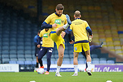 AFC Wimbledon midfielder Anthony Wordsworth (40) warming up during the EFL Sky Bet League 1 match between Southend United and AFC Wimbledon at Roots Hall, Southend, England on 12 October 2019.