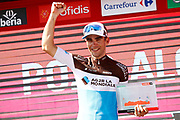 Podium, Tony Gallopin (FRA - AG2R - La Mondiale) winner, during the UCI World Tour, Tour of Spain (Vuelta) 2018, Stage 7, Puerto Lumbreras - Pozo Alcon 185,7 km in Spain, on August 31th, 2018 - Photo Luca Bettini / BettiniPhoto / ProSportsImages / DPPI