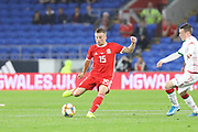 Wales defender James Lawrence during the Friendly match between Wales and Belarus at the Cardiff City Stadium, Cardiff, Wales on 9 September 2019.