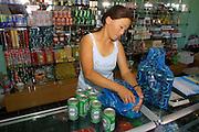 GOBI DESERT, MONGOLIA..08/31/2001.A shop at Bayangovi..(Photo by Heimo Aga).