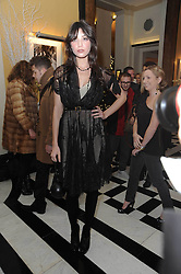 DAISY LOWE at the launch of the Claridge's Christmas Tree designed by John Galliano for Dior held at Claridge's, Brook Street, London on 1st December 2009.