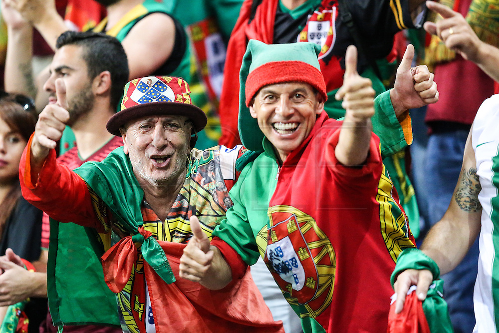 LYON, FRANCE, 07.06.2016 - WALES PORTUGAL Supporters of Portugal match against Wales, valid for the semi-finals of Euro 2016 at the Grand Stade de Decines-Charpieu near Lyon, France, on this Wednesday (6 ).