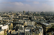 France. Paris. 5th district. Elevated view.  the Latin quarter and Notre dame cathedral. view from Saint Etienne du Mont Bell's tower.