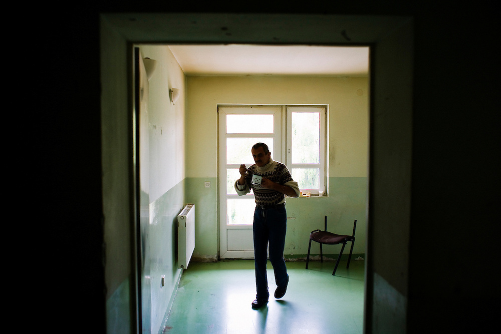 Patients at a controversial, multi-racial Mental Hospital in Shtime, Kosovo. Though there are more than 40 patients at the facility there are huge budget problems and no on-site psychiatrists.