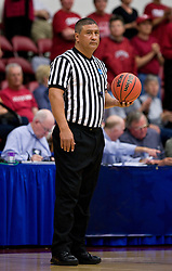 March 22, 2010; Stanford, CA, USA;  NCAA official Bryan Enterline during the first half of the game between the Stanford Cardinal and the Iowa Hawkeye in the second round of the 2010 NCAA womens basketball tournament at Maples Pavilion. Stanford defeated Iowa 96-67.