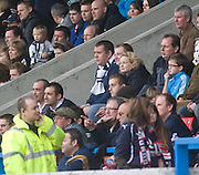 Dundee Chief Executive Harry MacLean (with white and dark blue scarf) in the away support at Forthbank - Stirling Albion v Dundee, IRN BRU Scottish League 1st Division, Forthbank Stadium, Stirling<br /> <br />  - &copy; David Young<br /> ---<br /> email: david@davidyoungphoto.co.uk<br /> http://www.davidyoungphoto.co.uk