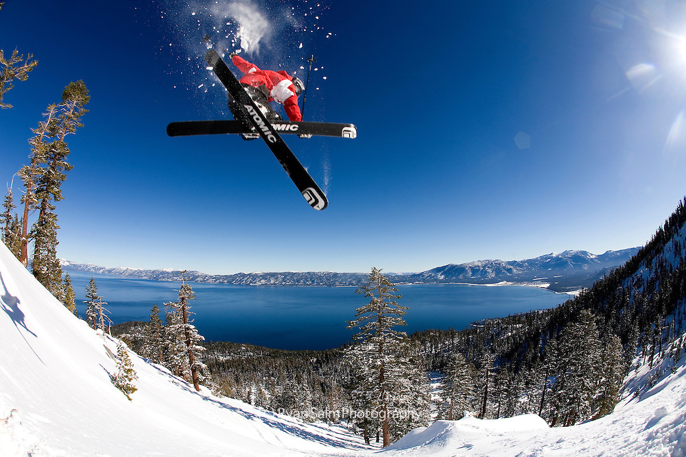 Miles Clark goes big over Lake Tahoe, Hidden Peak