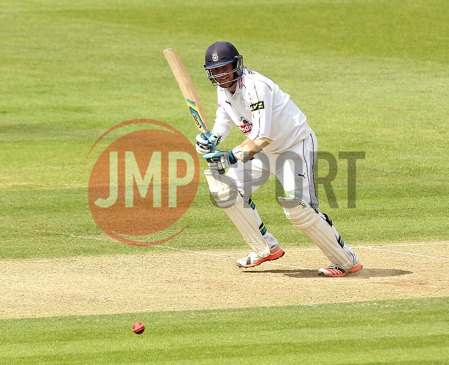 Hampshire's Liam Dawson bats - Photo mandatory by-line: Robbie Stephenson/JMP - Mobile: 07966 386802 - 22/06/2015 - SPORT - Cricket - Southampton - The Ageas Bowl - Hampshire v Somerset - County Championship Division One