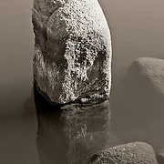 Rock reflecting in Watson Lake, Prescott, AZ