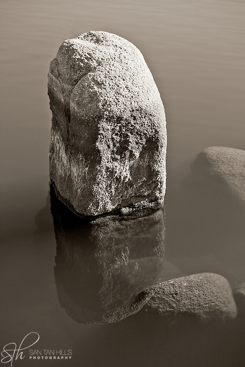 Rock reflecting in Watson Lake, Prescott, AZ