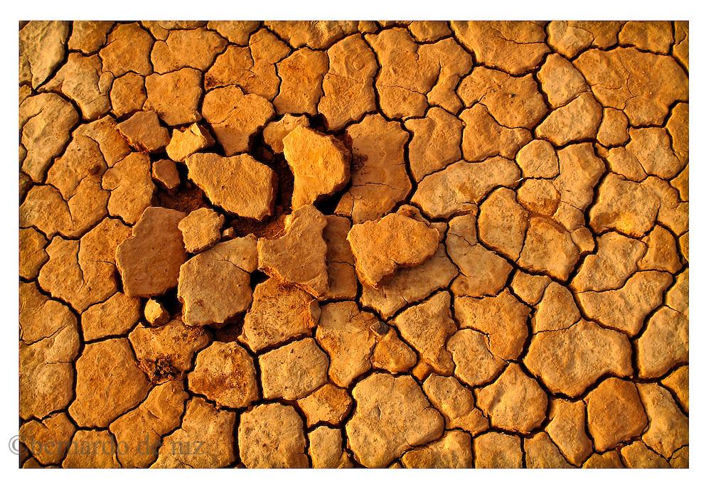 A view of the cracked desert in the Sahara. on January 2005. (Photo by Bernardo De Niz)