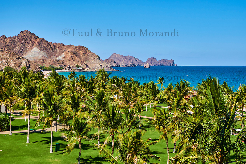 Sultanat d'Oman, Golfe d'Oman, Muscate, plage de Al Bustan // Sultanat of Oman, Gulf of Oman, Mascat, Al Bustan beach