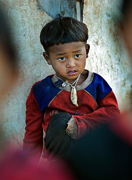 Akha boy near Luang Namtha, Laos.
