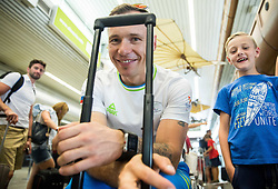 Primoz Jeralic during departure of Slovenian Paralympic Team to Paralympic Games Rio 2016, on August 31, 2016, in Airport Joze Pucnik, Brnik, Slovenia. Photo by Vid Ponikvar / Sportida