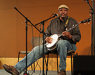 Carl Johnson performs during the Black Banjo and Jazz gathering on the campus at Appalachian State University in Boone NC