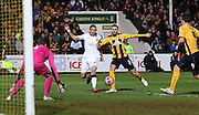 Manchester United's Angel Di Maria battles for the ball during the The FA Cup match between Cambridge United and Manchester United at the R Costings Abbey Stadium, Cambridge, England on 23 January 2015. Photo by Phil Duncan.
