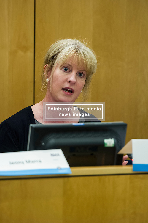 Pictured: Shona Robison SNP<br /> <br /> Health spokemen and women participated in the BMA's Scotland health hustings tonight in Edinburgh. Among those attending were Shona Robison, Jenny Marra, Jim Hume, Alison Johnstone and Jackson Carlaw. Staff from all levels in the NHS took the opportunity to challenge the health spokepersons on what they would do if elected in the General Election next month<br /> <br /> Ger Harley | EEm 23 March 2016