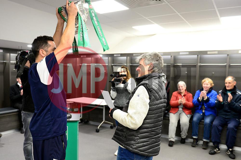 Former Bristol City player Scott Murray surprises a Bristol City fan with tickets to the Carabao Cup final - Mandatory by-line: Dougie Allward/JMP - 19/12/2017 - Sport - Ashton Gate - Bristol, England - Carabao Cup tour