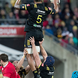 Sam Lousi during game 8 of the British and Irish Lions 2017 Tour of New Zealand,The match between  Hurricanes and British and Irish Lions, Westpac Stadium, Wellington, Tuesday 27th June 2017<br /> (Photo by Kevin Booth Steve Haag Sports)<br /> <br /> Images for social media must have consent from Steve Haag