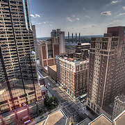 View of downtown Kansas City from a conference room on the 19th floor of the City Center Square Building.