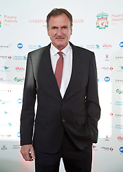 LIVERPOOL, ENGLAND - Tuesday, May 19, 2015: Former Liverpool player Phil Thompson arrives on the red carpet for the Liverpool FC Players' Awards Dinner 2015 at the Liverpool Arena. (Pic by David Rawcliffe/Propaganda)