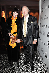 ED & CAROL VICTOR at the Liberatum Dinner hosted by Ella Krasner and Pablo Ganguli in honour of Sir V S Naipaul at The Landau at The Langham, Portland Place, London on 23rd November 2010.